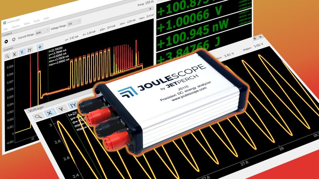 Joulescope Precision Dc Energy Analyzer By Jetperch Llc Kickstarter Energy Precision Motion Sensing