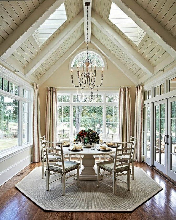 Image result for adding beams to a vaulted flat top ...