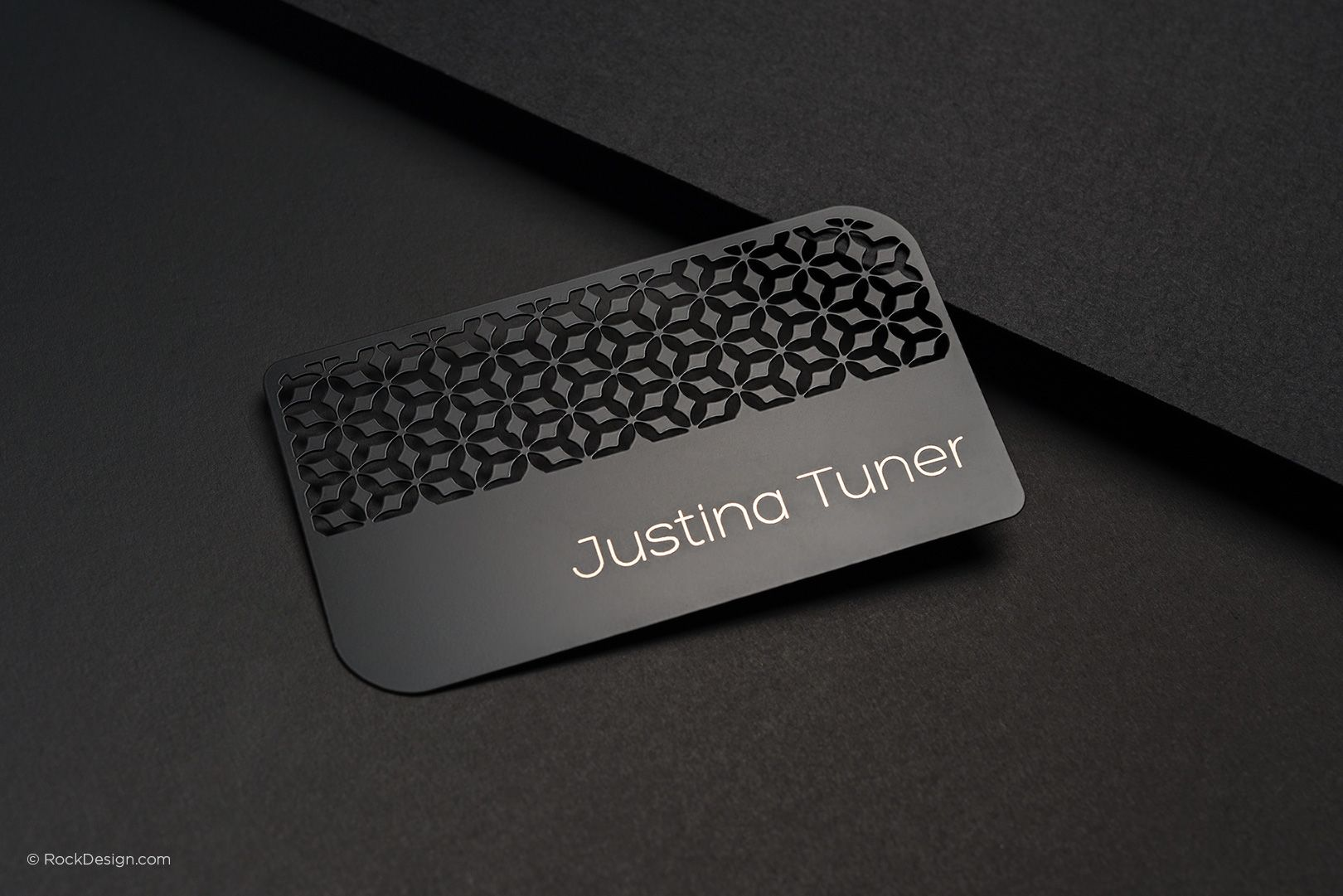 Quick Turnaround Time - Laser Engraved Black Metal Business Cards ...