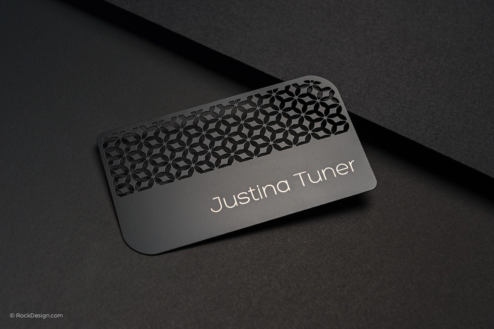 Quick Turnaround Time - Laser Engraved Black Metal Business Cards ...