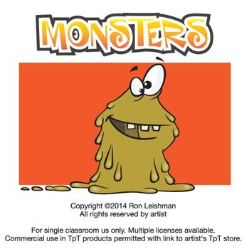 Monsters Cartoon Clipart Figuren Fur Lernmaterial Clip