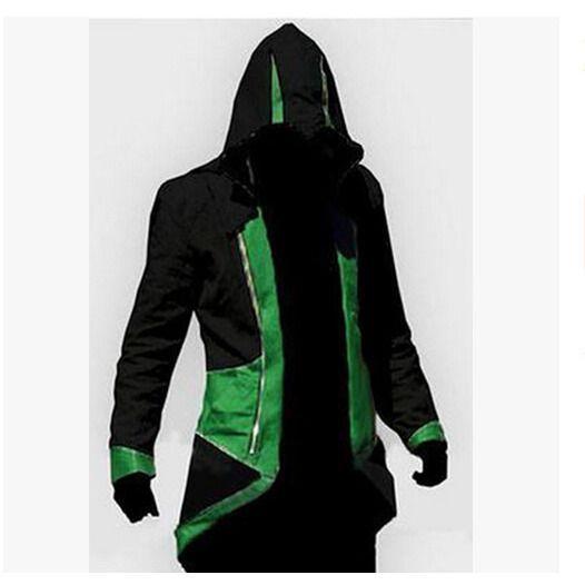 Assassins Creed 3 III Conner Kenway Men Hoodie Jacket Anime Cosplay Assassin's Costume Cosplay Coat Novelty Sweatshirt Overcoat