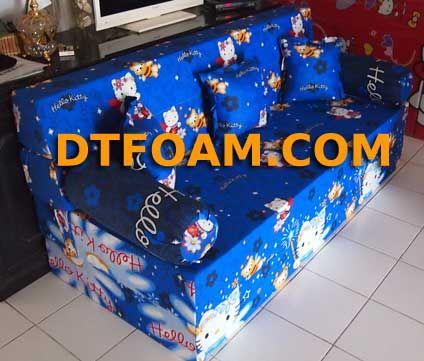 Sofa Bed Inoac Hello Kitty Biru : – Pilihan Busa : Super awet 10 tahun /Esklusif awet 15 tahun. – Cover : Katun Halus. – Dapat di vakum untuk memperkecil biaya pengiriman. – Motif cover dapat menggunakan motif cover sofa bed maupun motif kasur busa. Sofa bed adalah gabungan sofa https://dtfoam.com/sofa-bed-inoac-hello-kitty-biru/