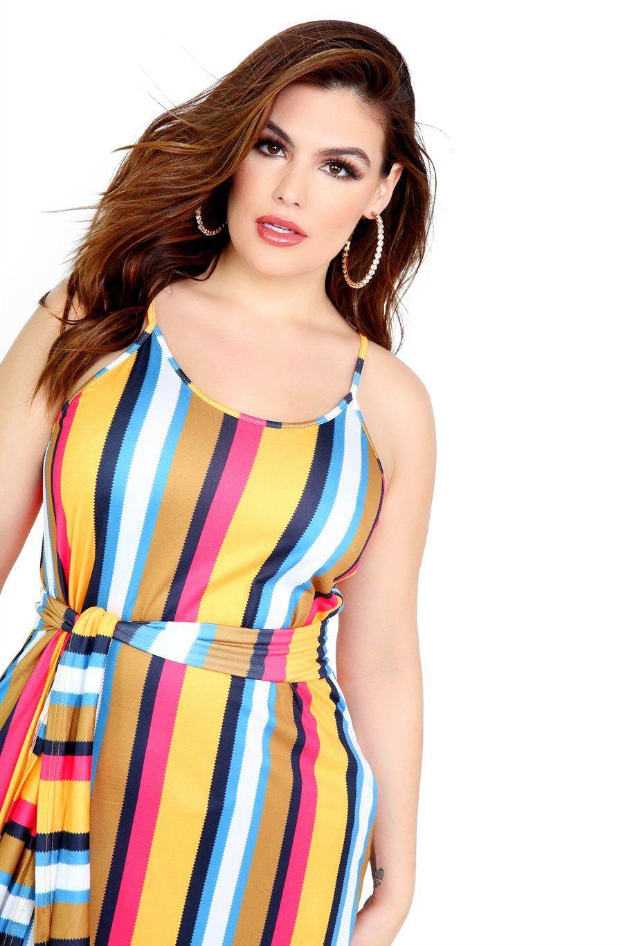Orange Striped Maxi Dress W Pockets Available In Both Missy And Plus Sizes Shop Rebdolls For The Latest In Trendy Affordable Moda Vestidos De Moda De Moda [ 1366 x 900 Pixel ]
