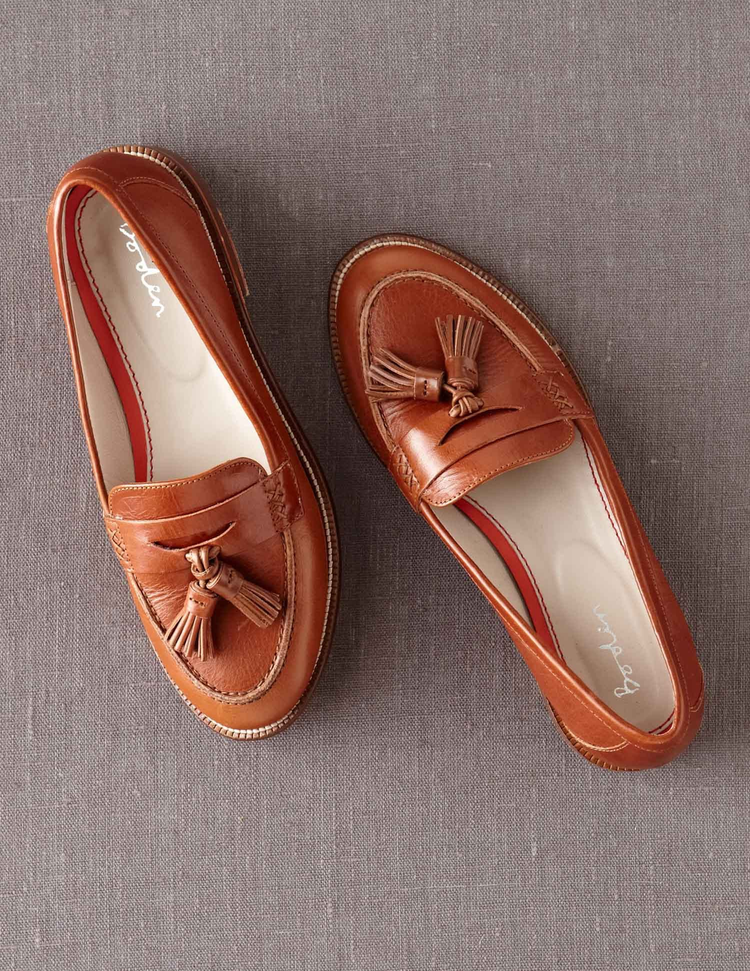 7453f2979c406 Boden Women s Brand New Tassel Loafer Leather Shoes Brown Tan ...