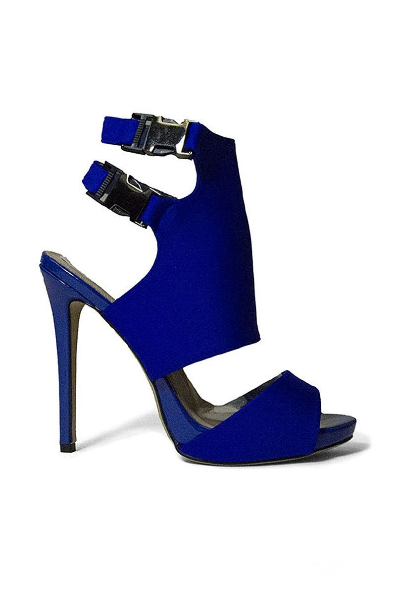 Lost Ink Buckled Cobalt Heels