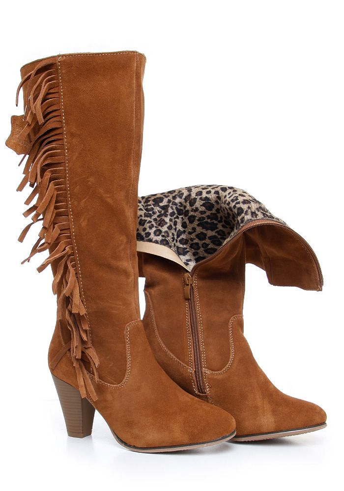 Kozaki Z Frezlami Boho Boots Ankle Boot Shoes