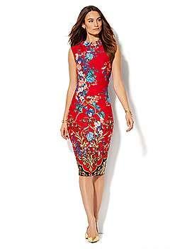 Gold Lace Sheath Dress - New York & Company
