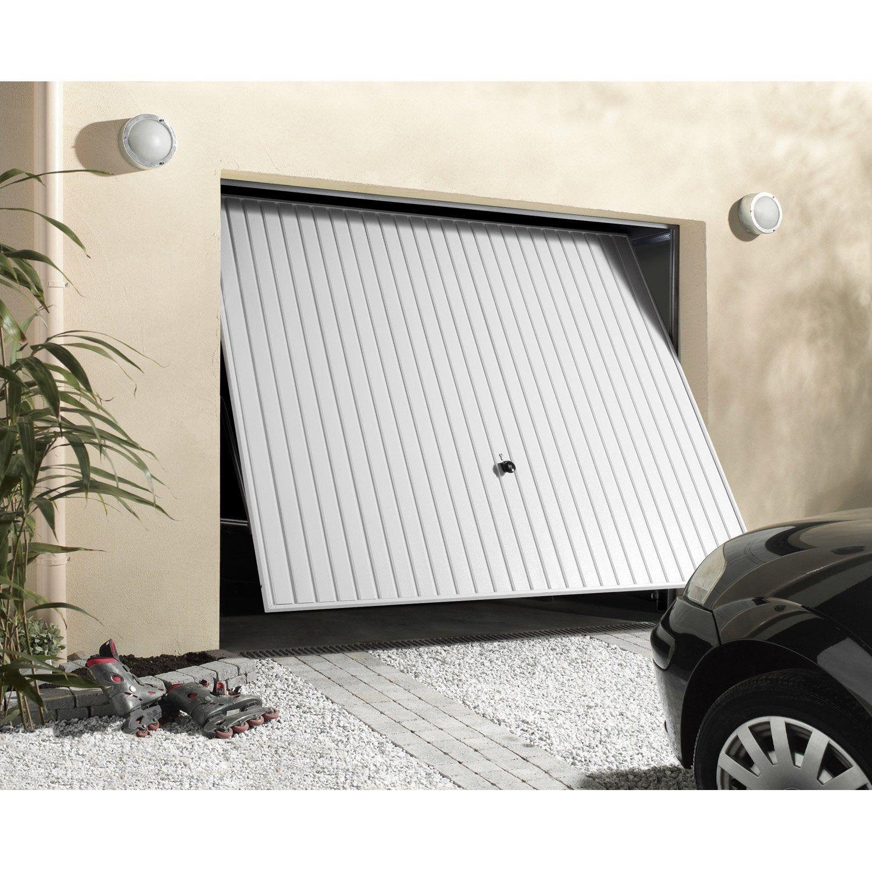 Porte De Garage Basculante Manuelle Debordante Sans Portillon H 200 X L 237 Cm Porte De Garage Basculante Porte Garage Motorisation Porte De Garage