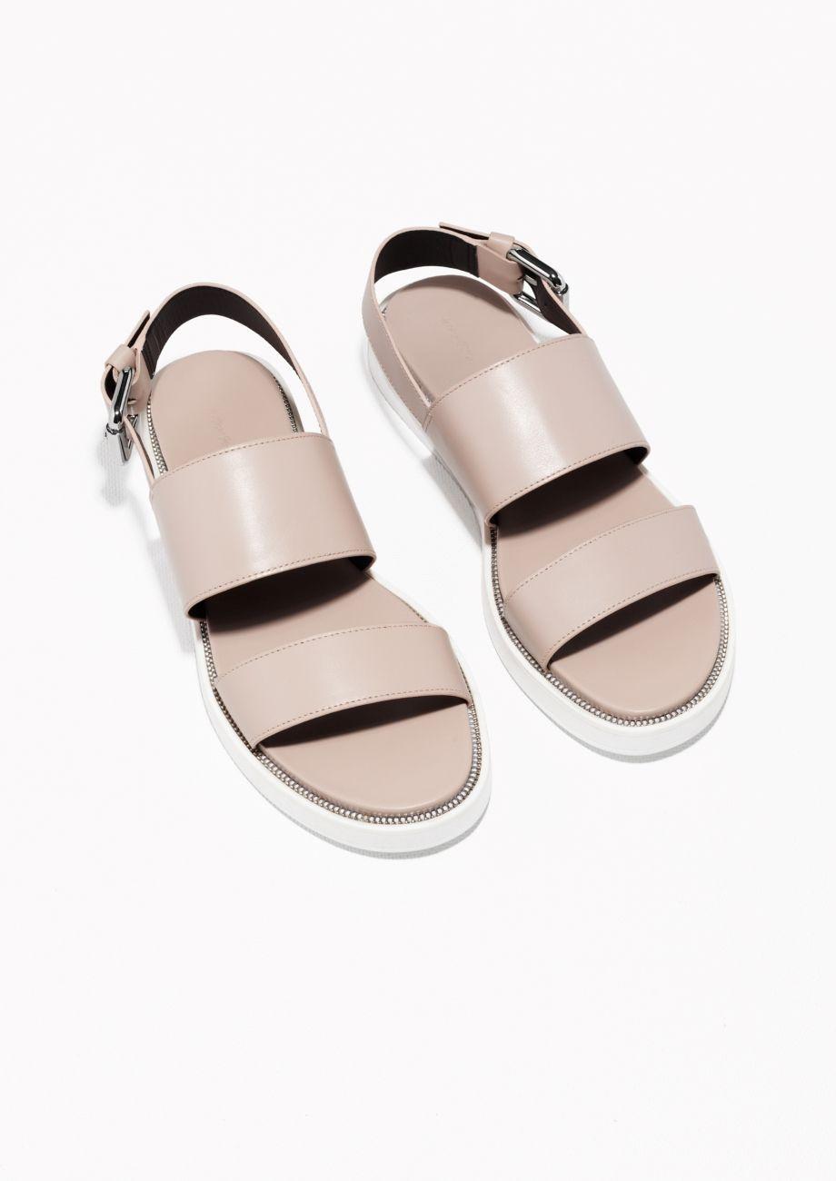 & Other Stories | Raw Edge Leather Sandals | Skor, Pinterest
