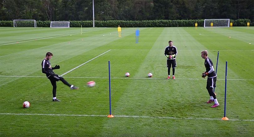 Goalkeeper training drills prematch warm up goalkeeper