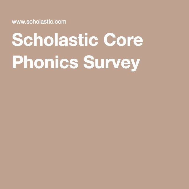Core Phonics Survey Words