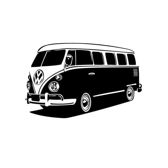0ac9b1bf1dfa7 Volkswagen bus car graphics design SVG DXF by VectordesignStudio ...