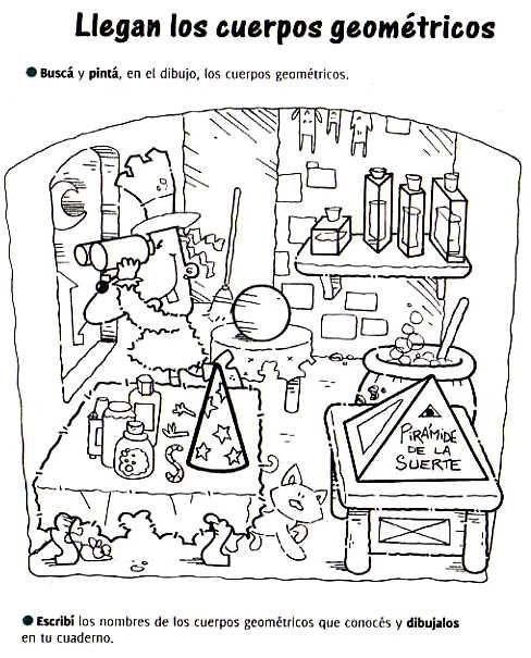 Aula Seño Sory...: Cuerpos geométricos. Actividades!!! … | Pinteres…