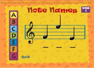 Interactive music games- these are great for a quick little game ...