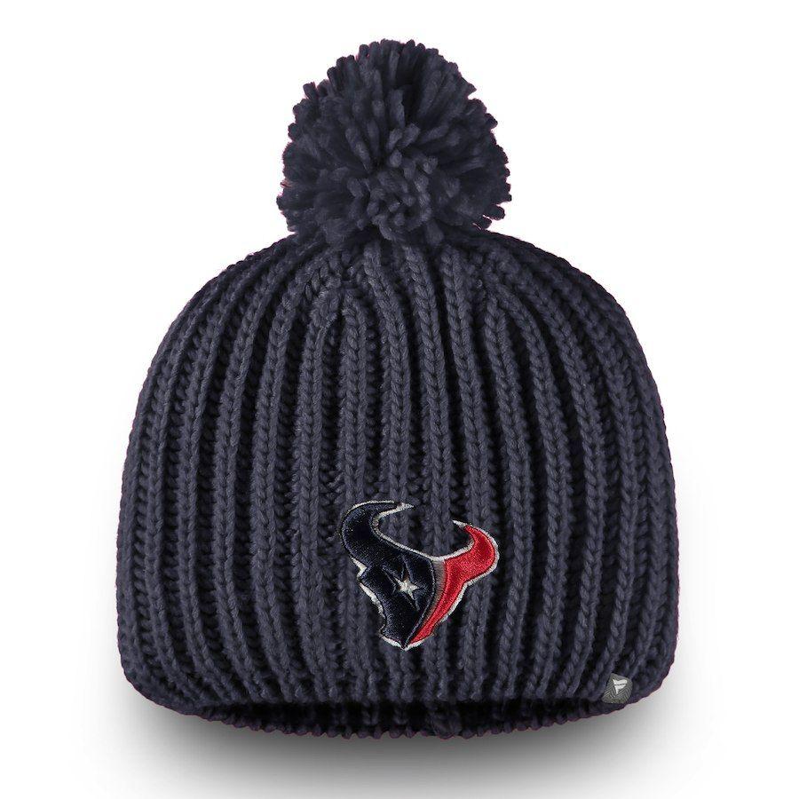 f76d2c9f7e4 Women s Houston Texans NFL Pro Line by Fanatics Branded Navy Iconic Ace  Knit Beanie