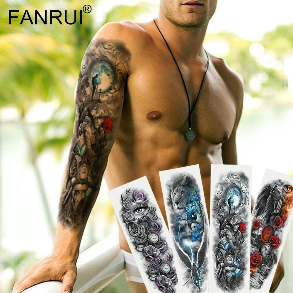 Full Arm Sleeve Waterproof Tattoo Stickers For Men is an