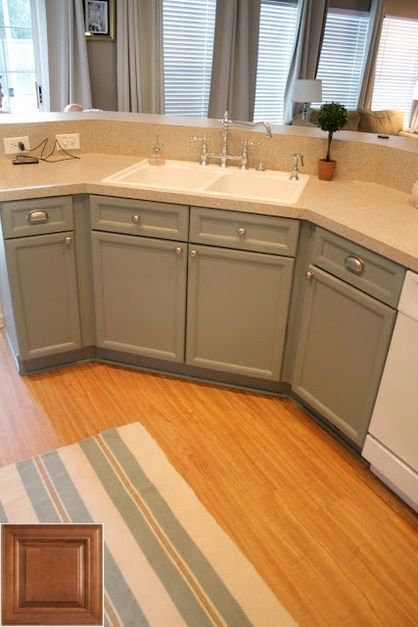 Best solution for - oak kitchen cabinets stained gray. # ...