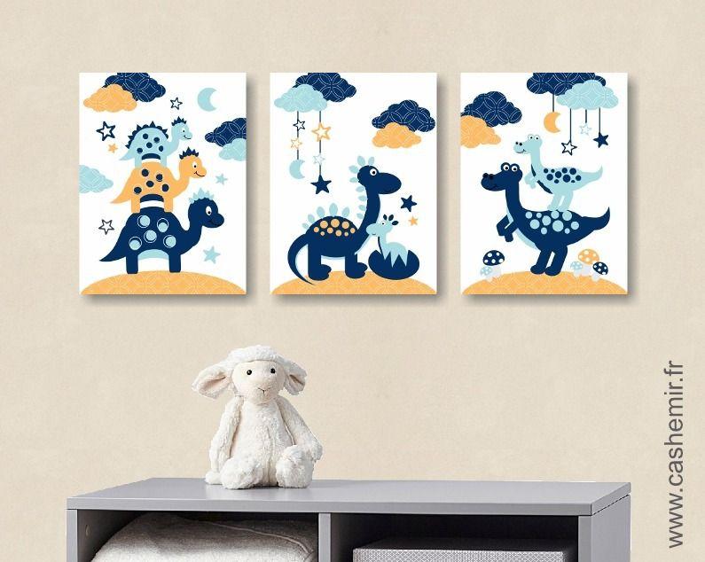 Affiche pour enfant illustration bébé poster enfant garçon décoration chambre enfant dinosaure n12 décoration pour