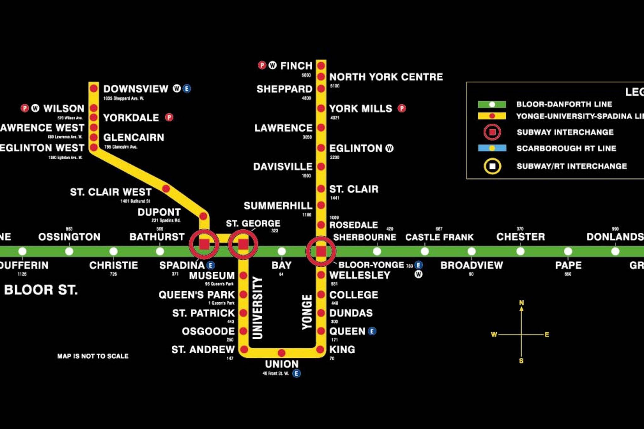Ttc Subway Map Toronto.Toronto Subway Map Toronto Subway Subway Map Toronto Map