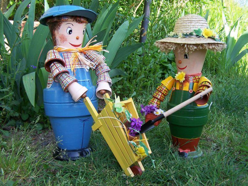 Personnages en pots de terre cuite decorando con macetas pinterest - Nouveaux personnages en pots de terre cuite ...