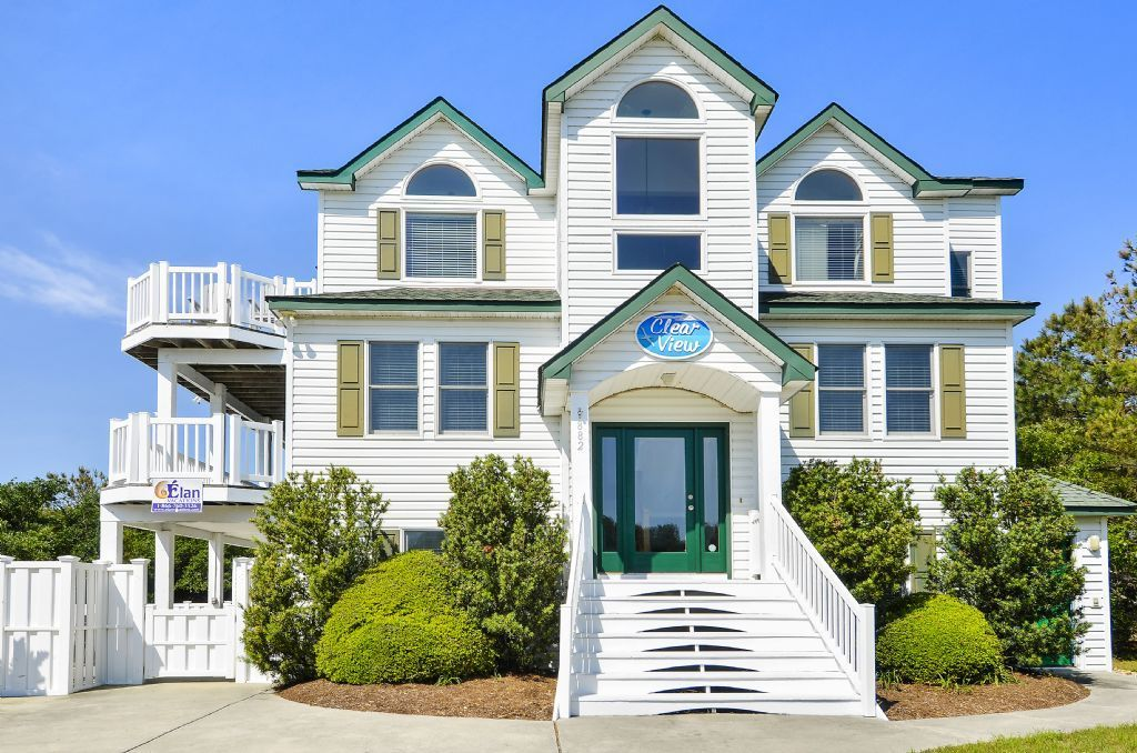 Nc Clear View Vacation In This Beautiful 8 Bedroom Outer Banks Vacation Home In Whalehea Outer Banks Vacation Outer Banks Rentals Outer Banks Vacation Rentals
