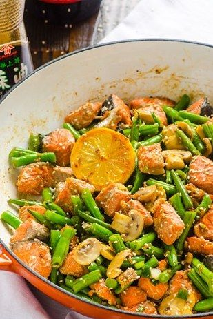 Salmon and Green Bean Stir Fry   19 Delicious Dinners You Can Make With Salmon Fillets