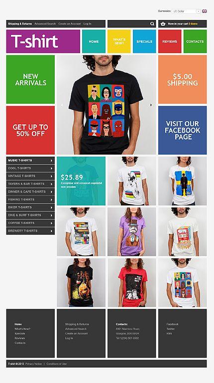 Template 45010 T Shirts Clothes Oscommerce Template Veb Dizajn Shablon Sajta Shablony