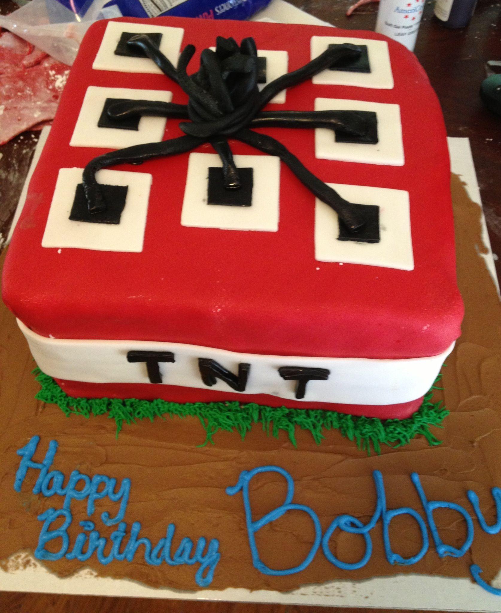 Minecraft Tnt Cake Cakes Pinterest Cake