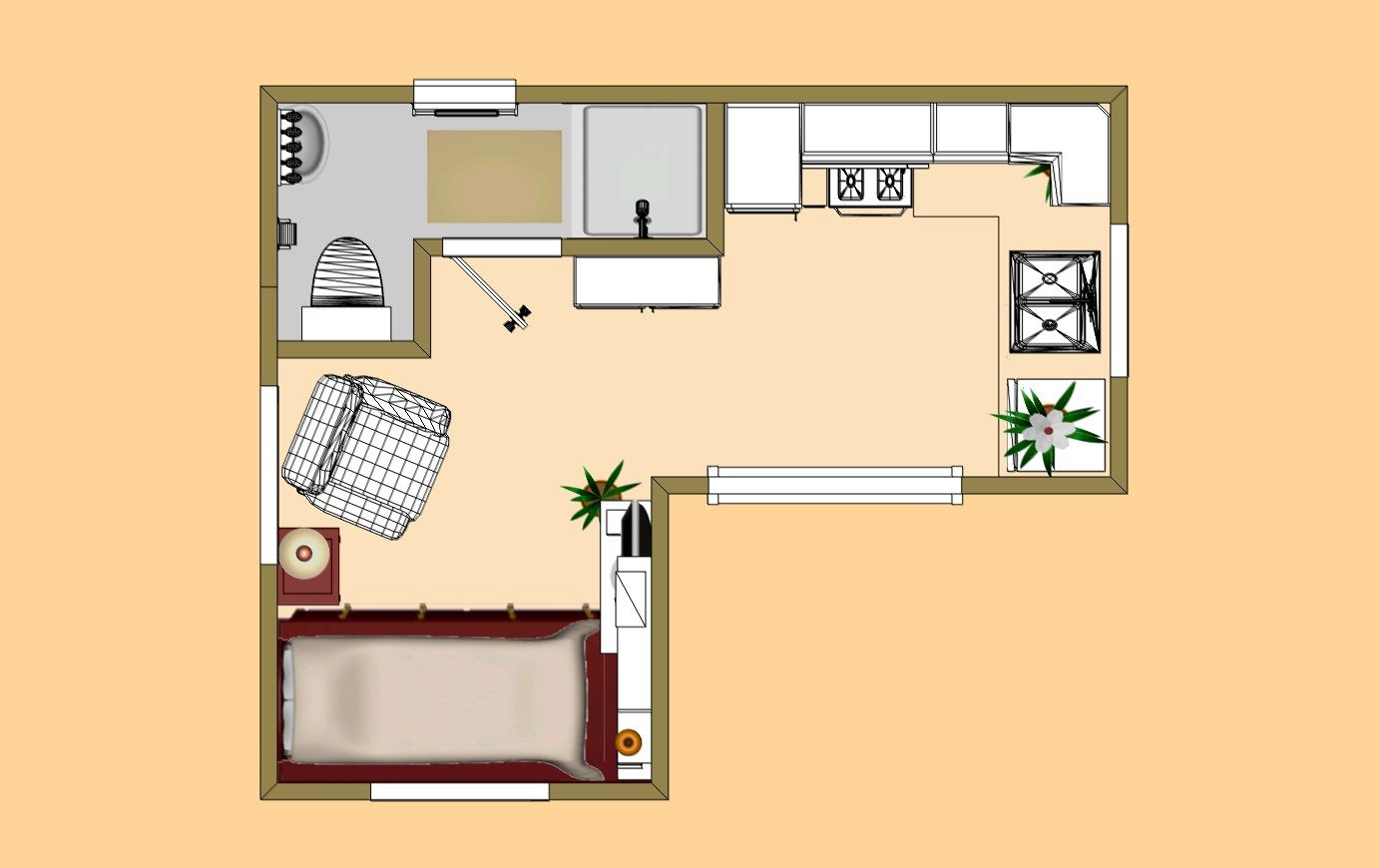 The Simple Floor Plan With All The Touches Of A Cozy Home Tiny House Plans Tiny House Floor Plans Small House Plans