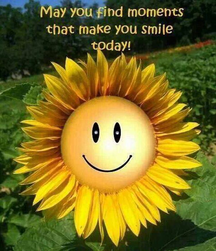 Good morning. May you find moments that make you smile
