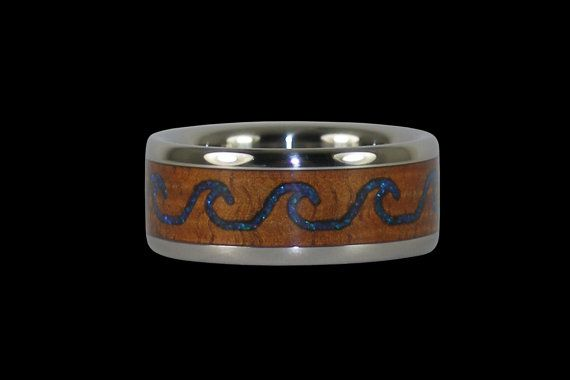 Pin By Niki Macomber On What I Want To Get For Traveling 6 In 2020 Hawaiian Wedding Rings Mens Wood Wedding Bands Wedding Ring Bands