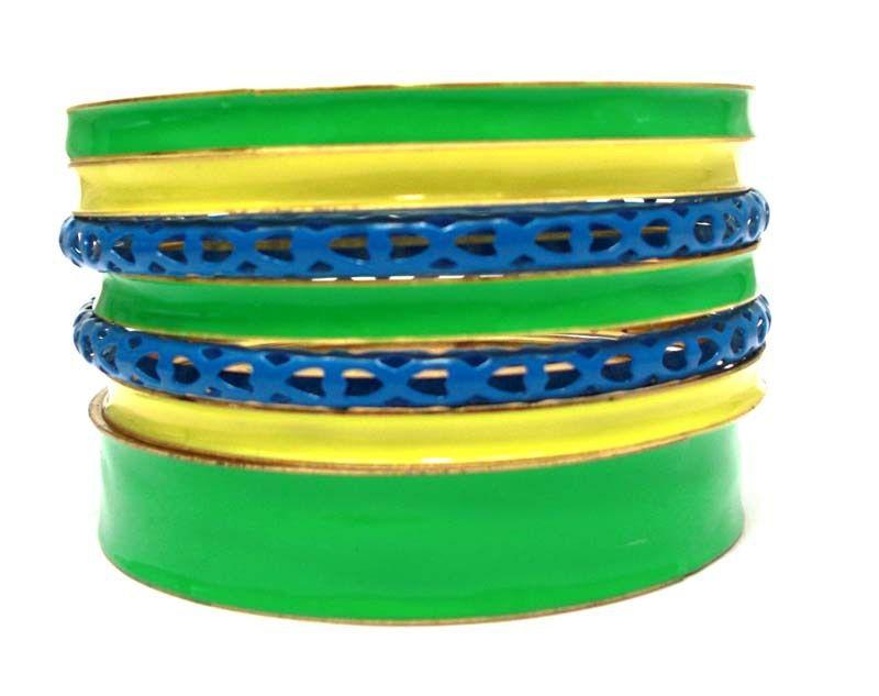2014 Brasil World Cup Wrist Fashion Female Bracelets and Bangles.Brazil Flag Symbolic Fashion Jewelry. Green Yellow Blue Mix Set $4.50