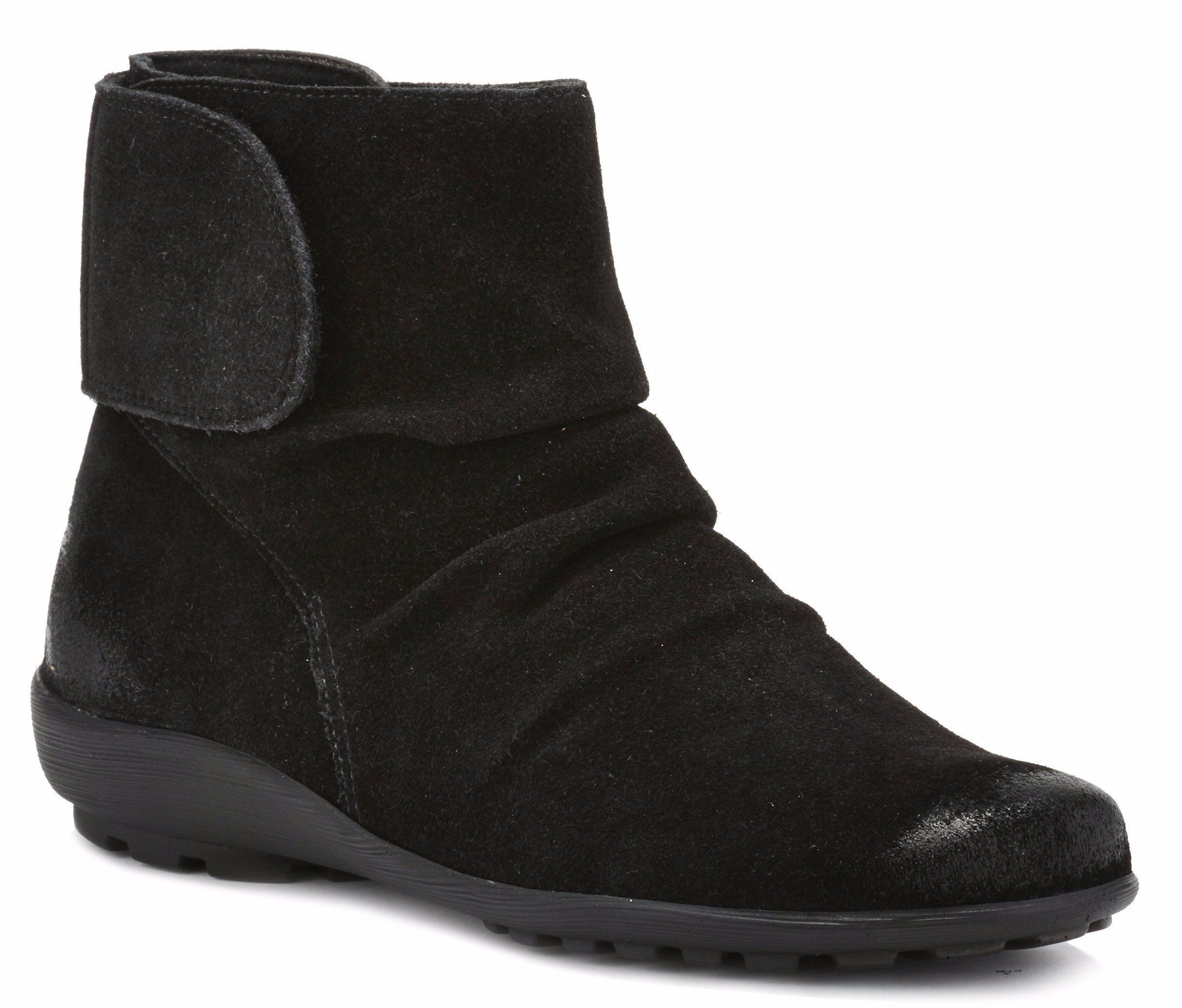 Harlow: Black Max Suede Leather