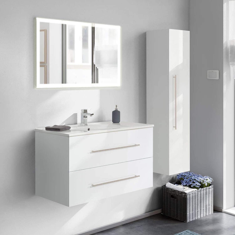 Spiegelschrank Badezimmer 100cm Landhaus Badmobel Gunstig Komplettset Badmobel Spiegelschrank Bad Gunstig Kaufen Badezimmer Set Waschbecken Badmobel Set