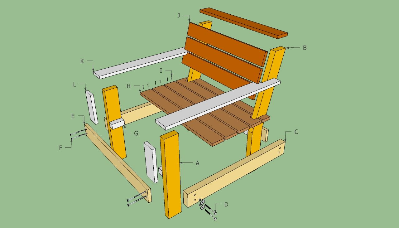 Outdoor furniture plans - Plans To Build Outdoor Furniture