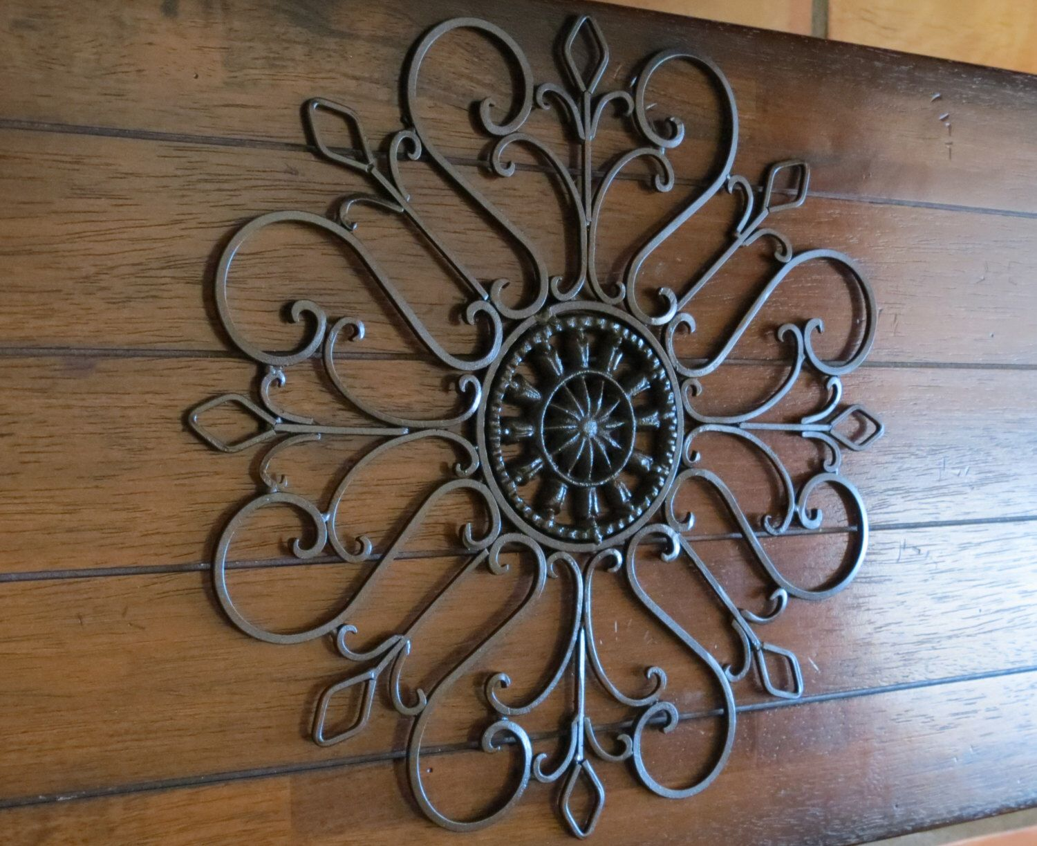 Medallion Wall Decor Scrolled Metal Indoor Or Outdoor Oil Rubbed Bronze
