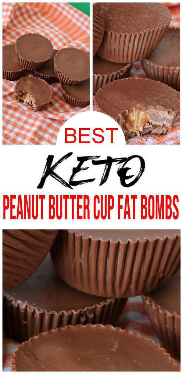 4 Ingredient Keto Chocolate Fat Bombs – BEST Chocolate Peanut Butter Cups Fat Bombs – Easy NO Sugar Low Carb Recipe