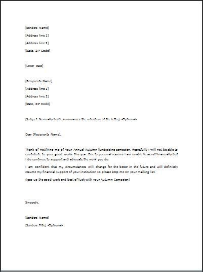 Refusal Letter is mostly used to refuse an appointment of new job – Business Event Invitation Letter