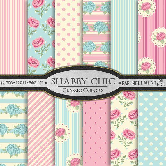 Digital Shabby Chic Paper Printable