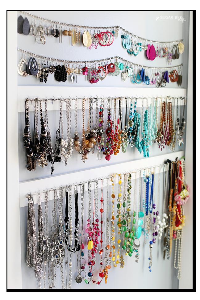 Simple Jewelry Organization Jewelry Organizer Wall