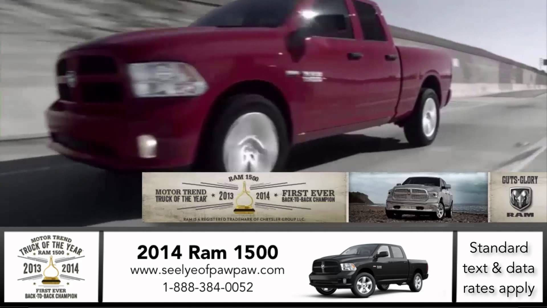 2014 Ram in Plainwell MI Motortrend Truck of the Year back to back two years in a row! http://seelyeofpawpaw.com