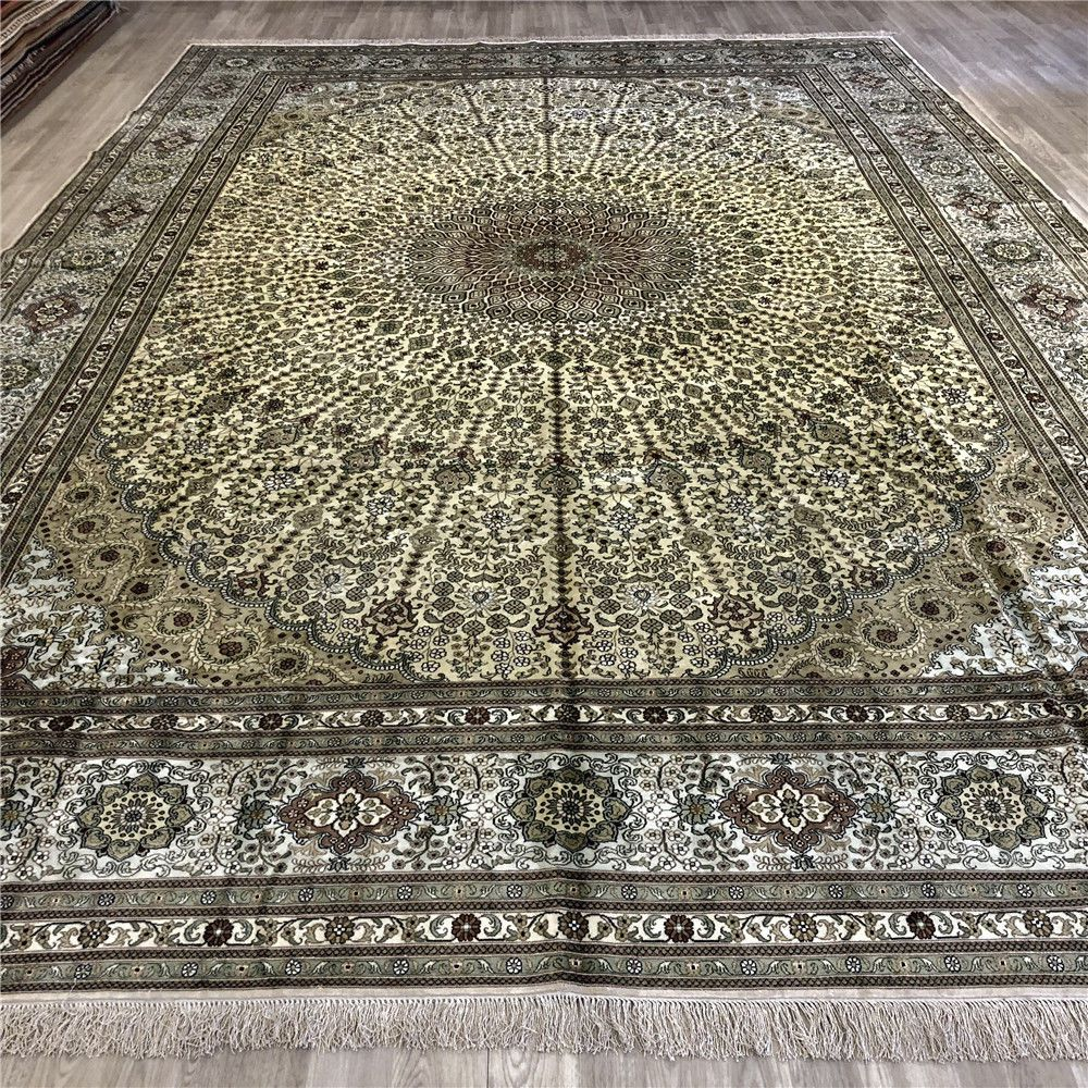 Yilong 12 X18 Handwoven Silk Carpet Luxury Radiant Home Decor Area Rug Y234ab Us 43 200 00 Warm Modern Warm Home Decor Rugs In Living Room