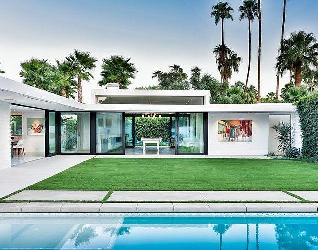 Arquitetura moderna casa em palm springs california - Maison plain pied deco orientale palm springs ...