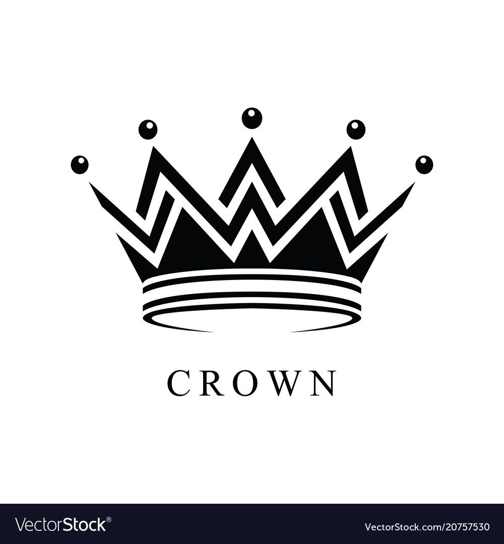 Crown logo abstract design template vector image on