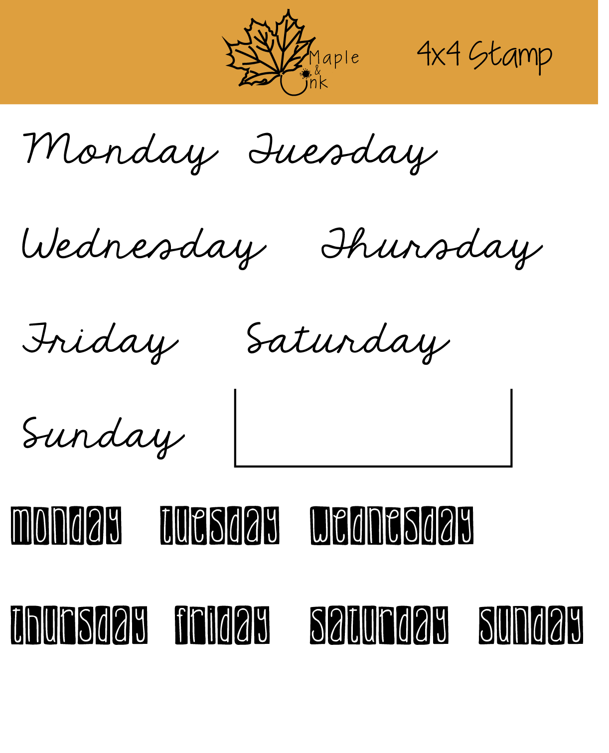 All Week Long Planner And Journals Clear Stamps Stamp
