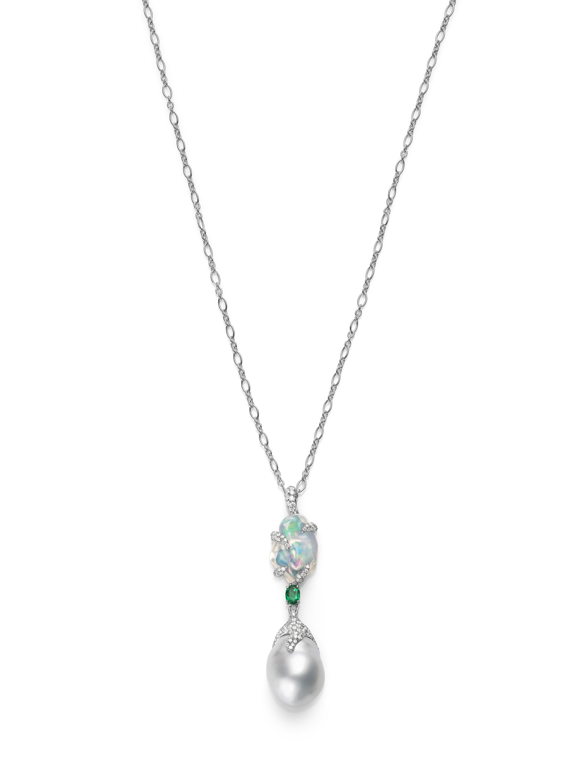 designers moeller jeweler and diamond pearl pendant f r mikimoto oval