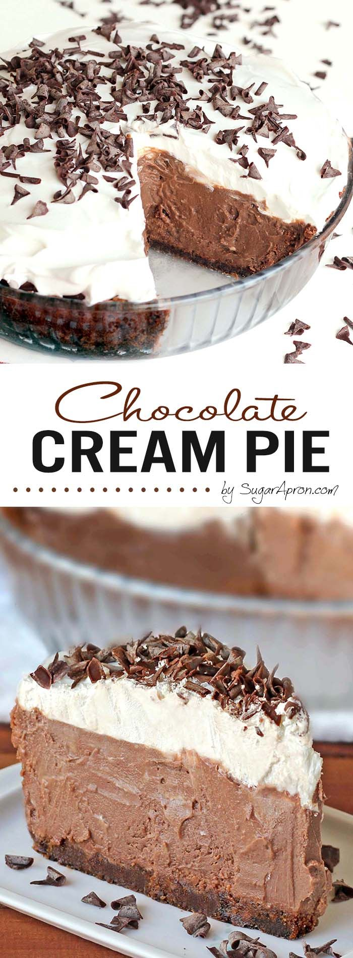 Check out Chocolate Cream Pie. It's so easy to make!   Chocolate ...