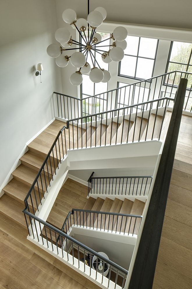 Best This Gorgeous Staircase Features White Oak Wood Treads And 400 x 300