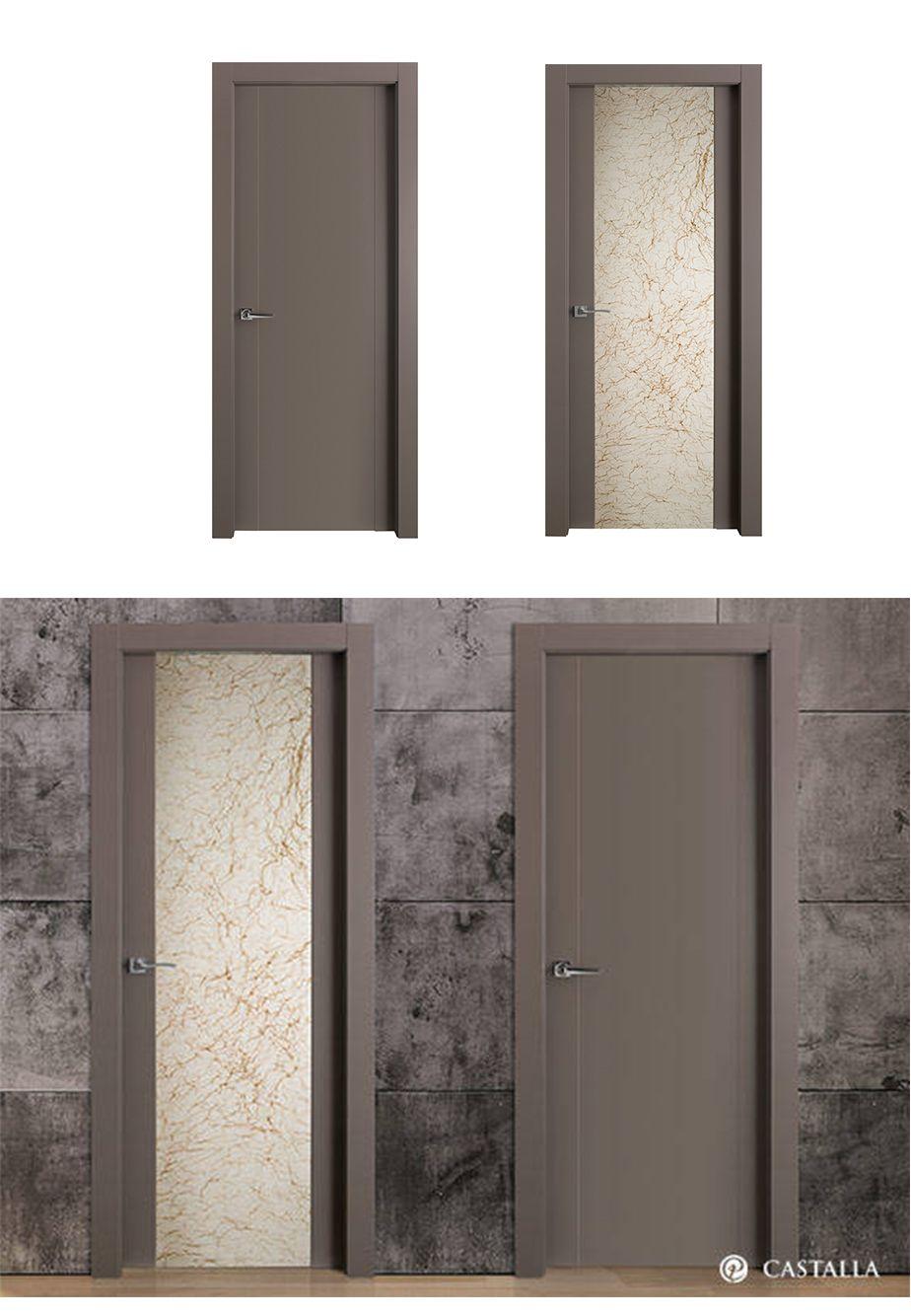 Puerta de interior oscura modelo mallorca de la serie for Puertas batientes interior